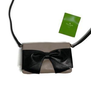 Kate Spade Tan & Black Bow Cross Body Bag Purse